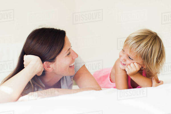 Portrait of mother with daughter (2-3) Royalty-free stock photo