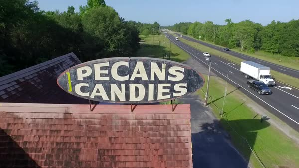 Aerial shot of old candy store in Florida Royalty-free stock video