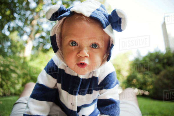Portrait of baby boy (12-17 months) Royalty-free stock photo