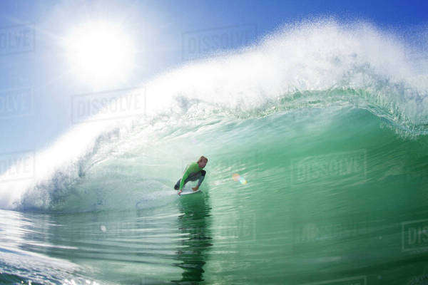 Surfer riding wave Royalty-free stock photo