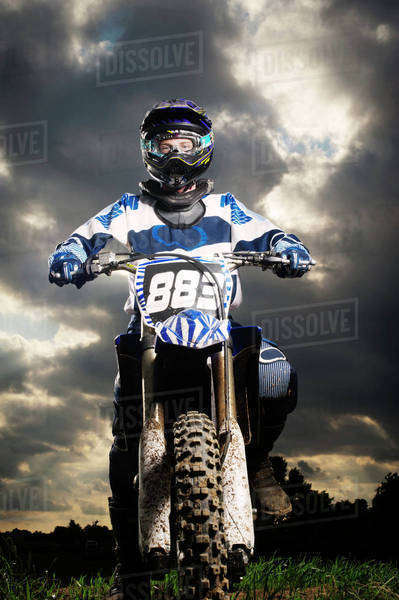 Motocross rider getting ready Royalty-free stock photo