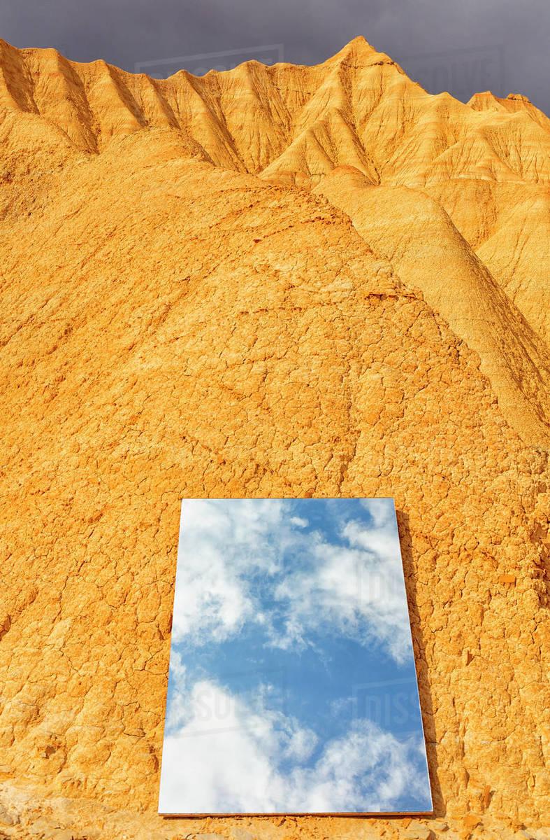 Bardenas Reales. Desierto de Bardenas Reales, _x000D_desert of Bardenas Reales Navarra Spain This particular rock formation Royalty-free stock photo