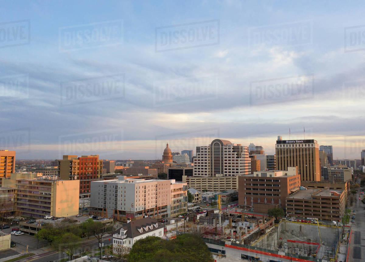 Austin, Texas skyline in evening Royalty-free stock photo