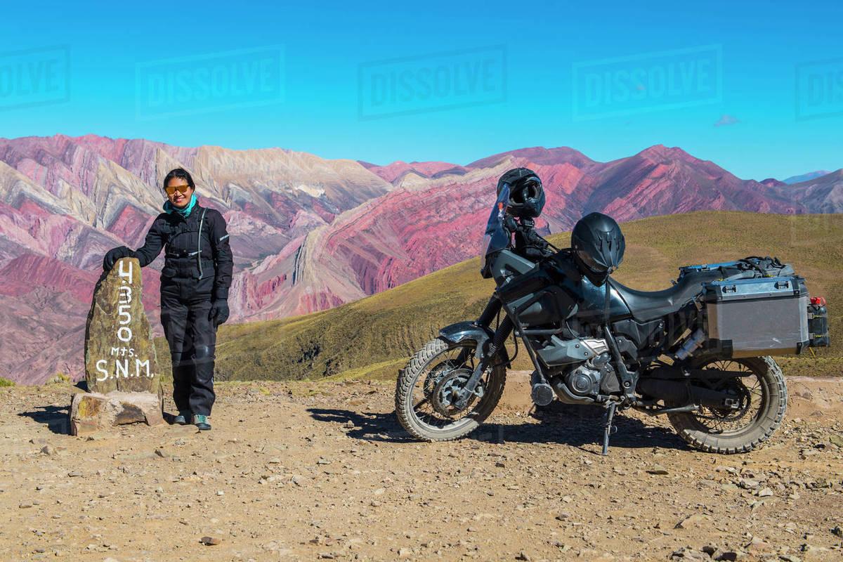 "The colourful mountain range ""Serrania de Hornocal"" in Argentina Royalty-free stock photo"