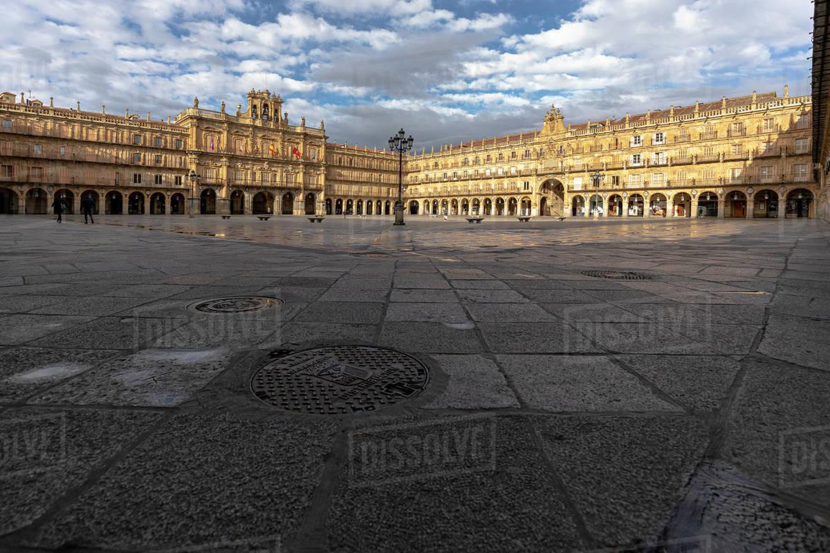 Plaza Mayor of Salamanca without people during the quarantine Royalty-free stock photo
