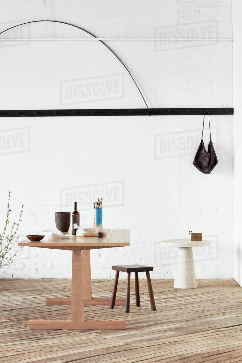 Casual Dining setup in industrial space Royalty-free stock photo