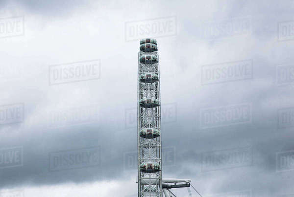 High section of Millennium Wheel against sky Royalty-free stock photo