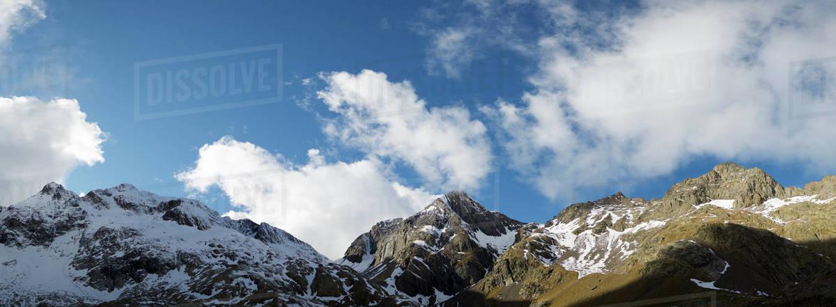 Peaks in Tena Valley, Panticosa Area, Pyrenees, Huesca Province, Aragon in Spain. Royalty-free stock photo