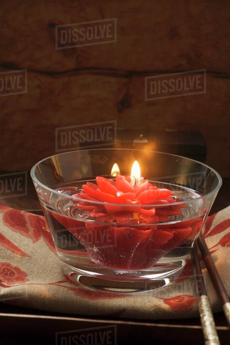 Asian Table Decoration Floating Flower Candle
