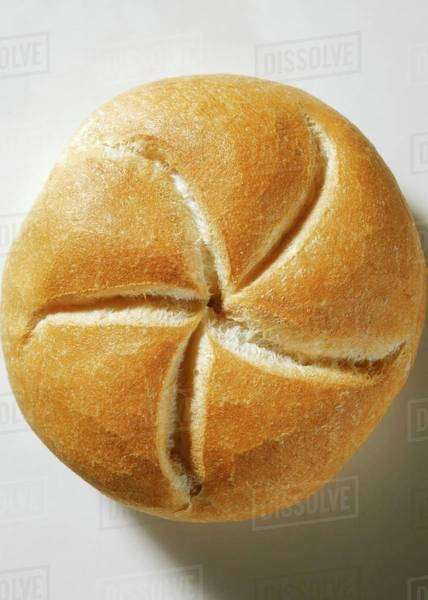 A Kaiser roll Royalty-free stock photo