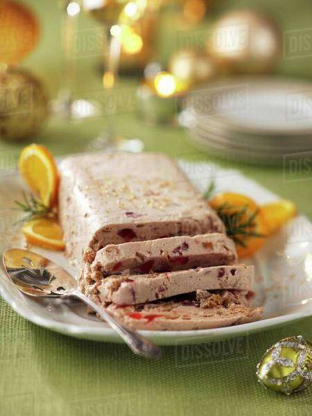 Christmas parfait with fruit and red wine Royalty-free stock photo
