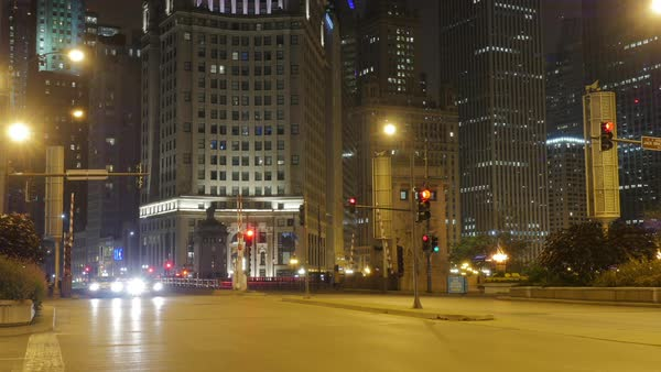 Time-lapse shot of downtown Chicago IL, USA Royalty-free stock video