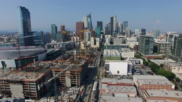 Aerial shot of downtown Los Angeles Royalty-free stock video