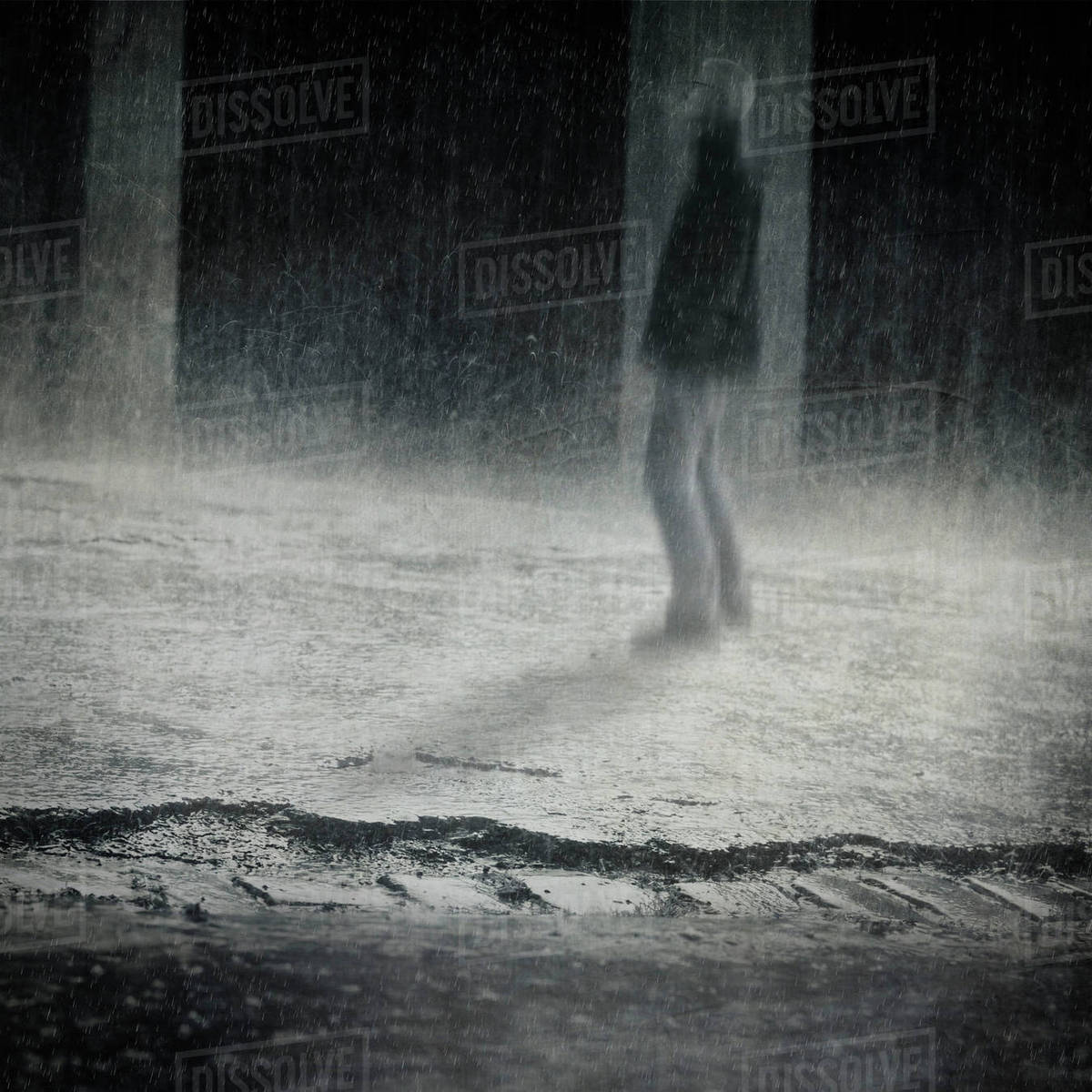 germany wuppertal man standing in the rain stock photo dissolve