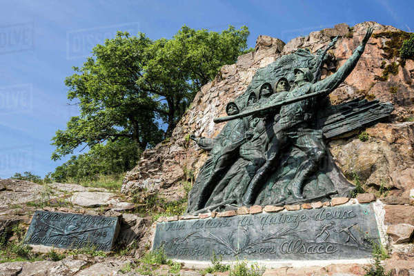 France, Vosges, WWI Memorial at the Vieil Armand Rights-managed stock photo