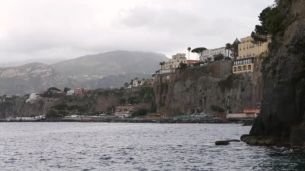 Wide shot of the coast of Sorrento, Italy Royalty-free stock video