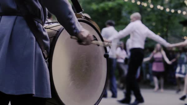 Close up shot of a drumming man Royalty-free stock video