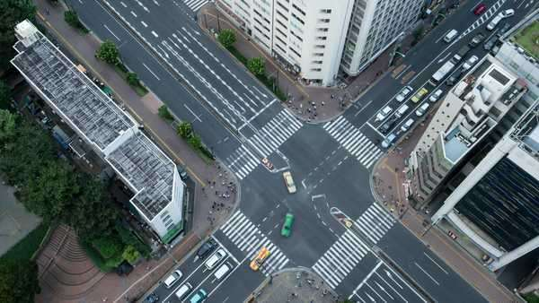 Timelapse View Of Traffic At Tomisakaue Crossing, Tokyo, Japan Royalty-free stock video