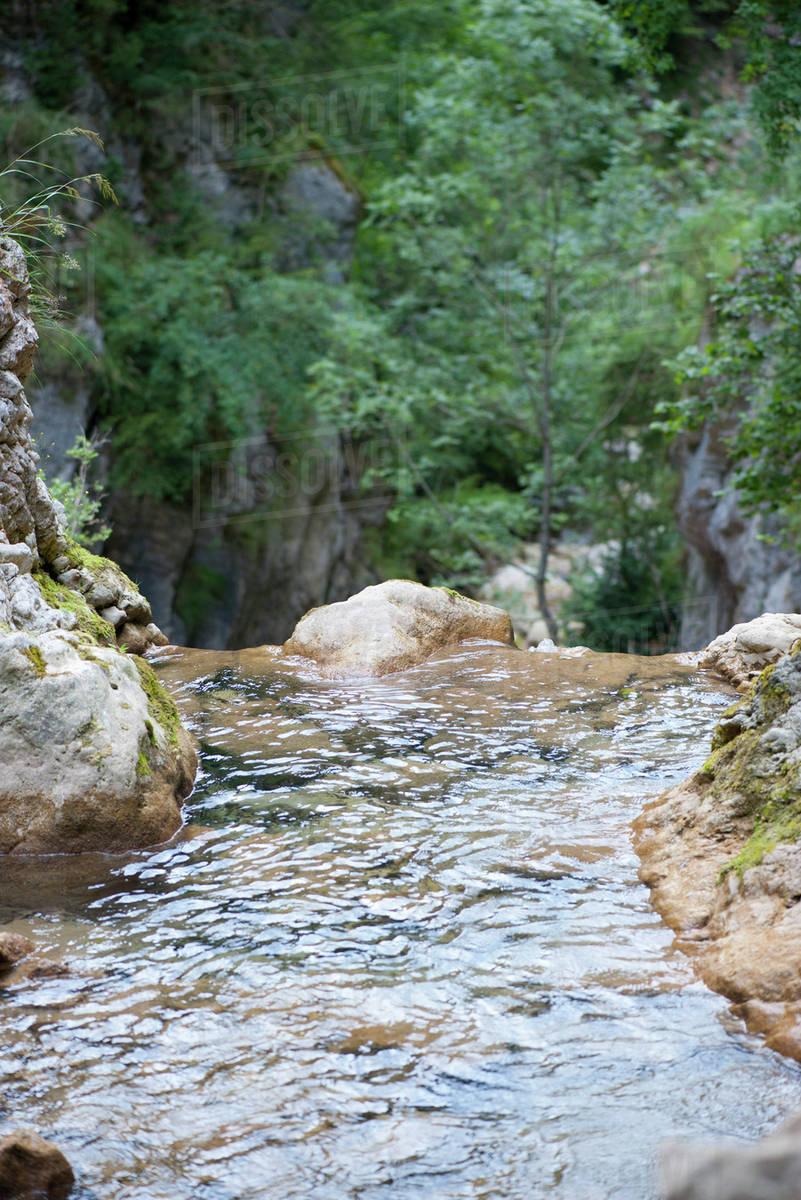 Edge Of Waterfall Stock Photo Dissolve
