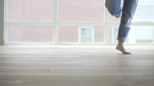 Close up shot of a dancer practicing in a studio Royalty-free stock video