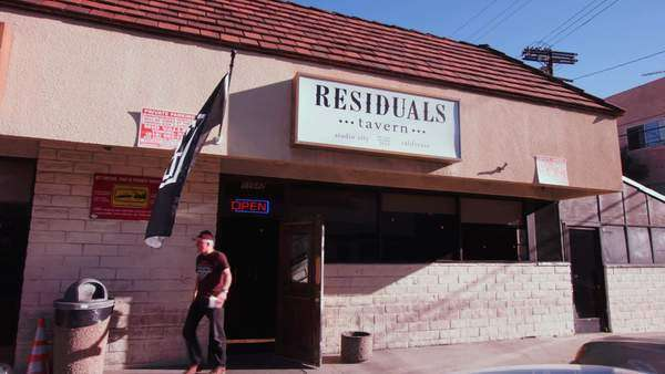 Locked-off shot of Residuals Tavern in Studio City Rights-managed stock video