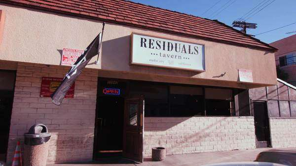 Static shot of Residuals Tavern in Studio City Rights-managed stock video