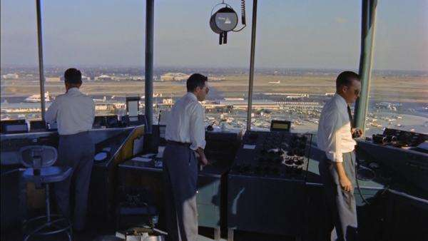 Static shot view of air traffic controllers at work Rights-managed stock video