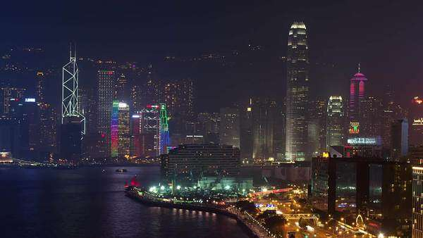 Hong Kong skyline Rights-managed stock video