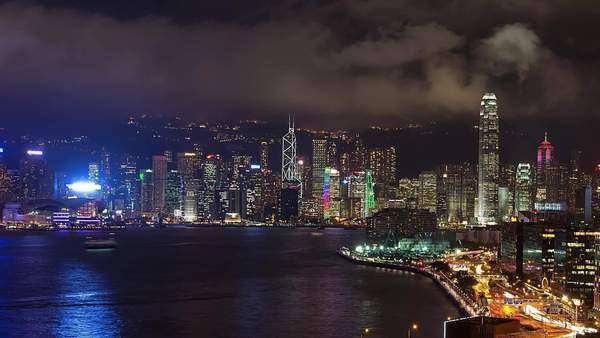 Timelapse of Hong Kong skyline Rights-managed stock video