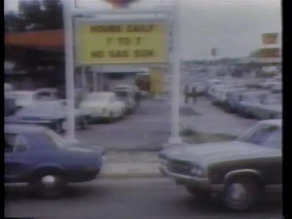 Montage of oil crisis in 1970s Rights-managed stock video