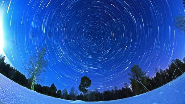 Stars leave traces. Fisheye. Timelapse Royalty-free stock video