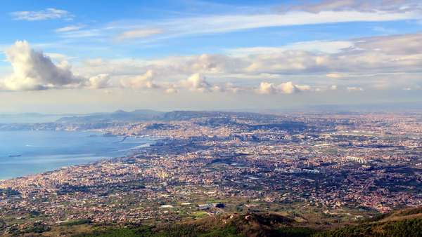 Over Naples. Panorama. Italy. Timelapse. Royalty-free stock video