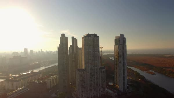 Glistening modern skycrapers of Buenos Aires, Argentina Royalty-free stock video