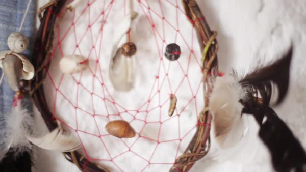 Close-up of dreamcatcher Royalty-free stock video