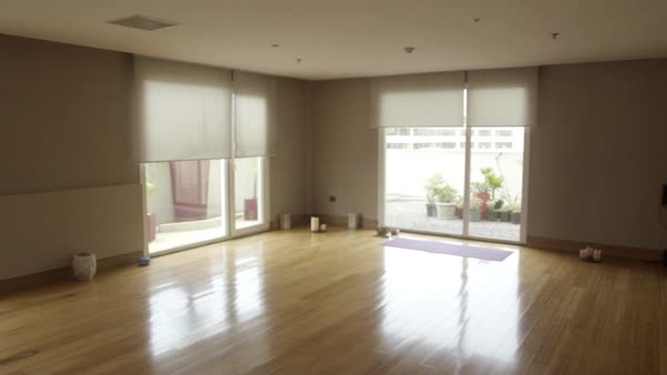 Empty yoga studio Royalty-free stock video