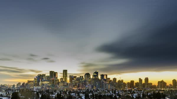 Timelapse of sunrise over Calgary Royalty-free stock video