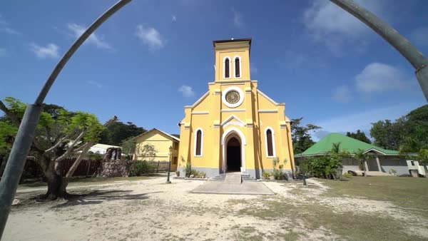Church on La Digue, Seychelles Royalty-free stock video