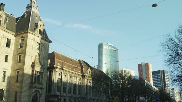 Slow motion shot of driving on a street in Rotterdam Royalty-free stock video