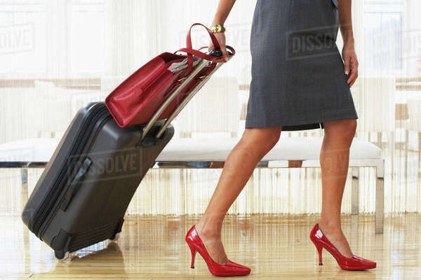 Woman with Luggage Royalty-free stock photo