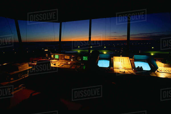 Interior of Control Tower Royalty-free stock photo