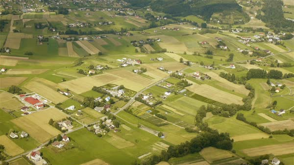 Polish countryside aerial view Royalty-free stock video