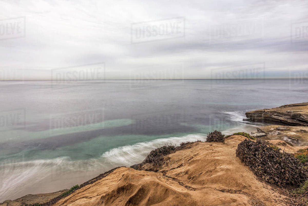 View from above Wipeout Beach on a December morning. Royalty-free stock photo