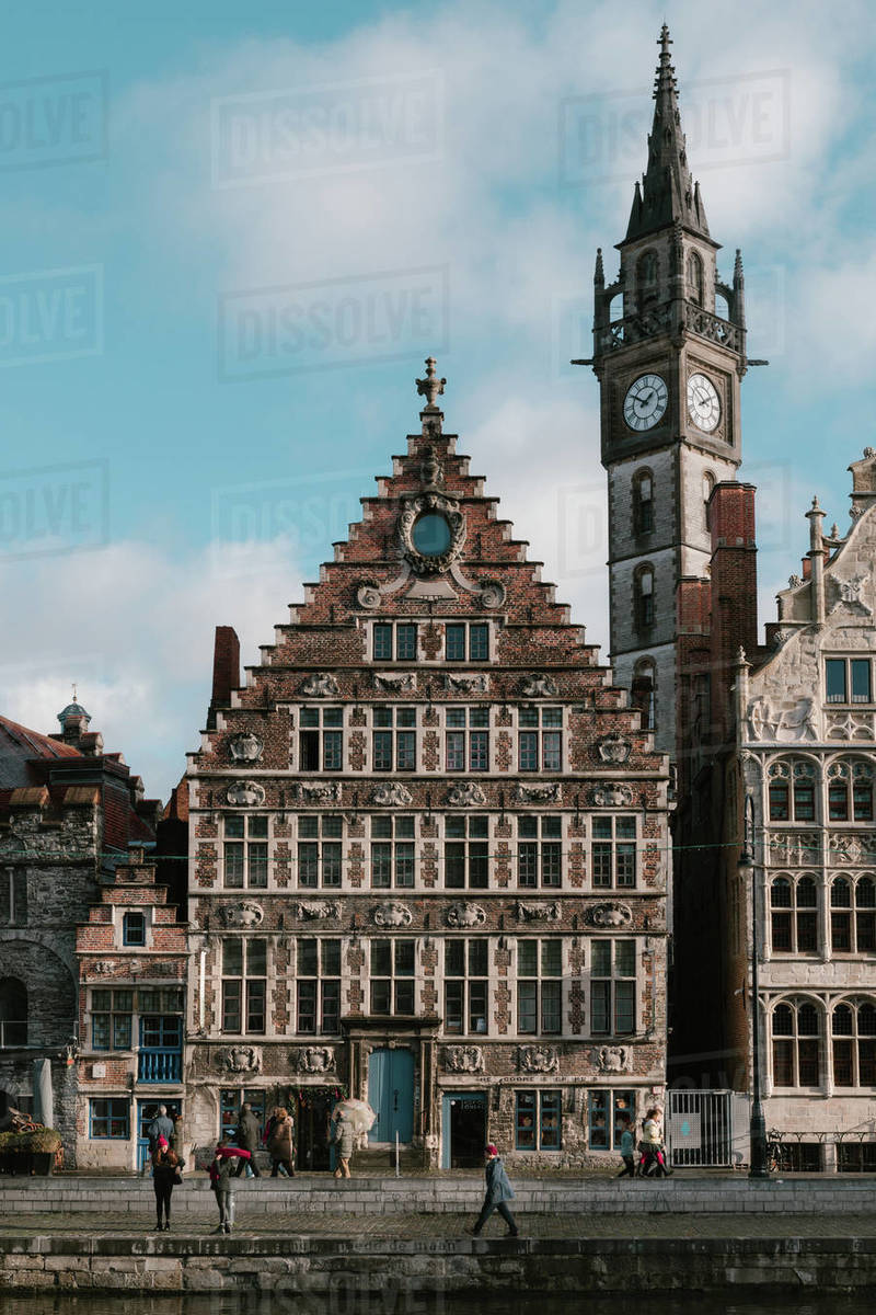 Old town of Ghent Royalty-free stock photo
