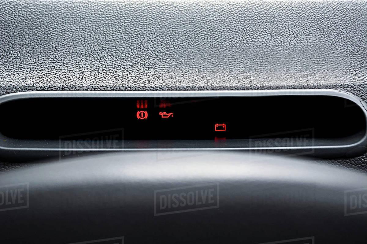 Alert lights interior car Royalty-free stock photo