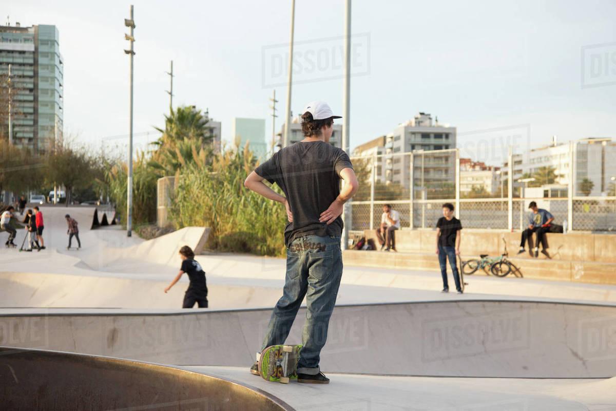 Skater in Barcelona Royalty-free stock photo
