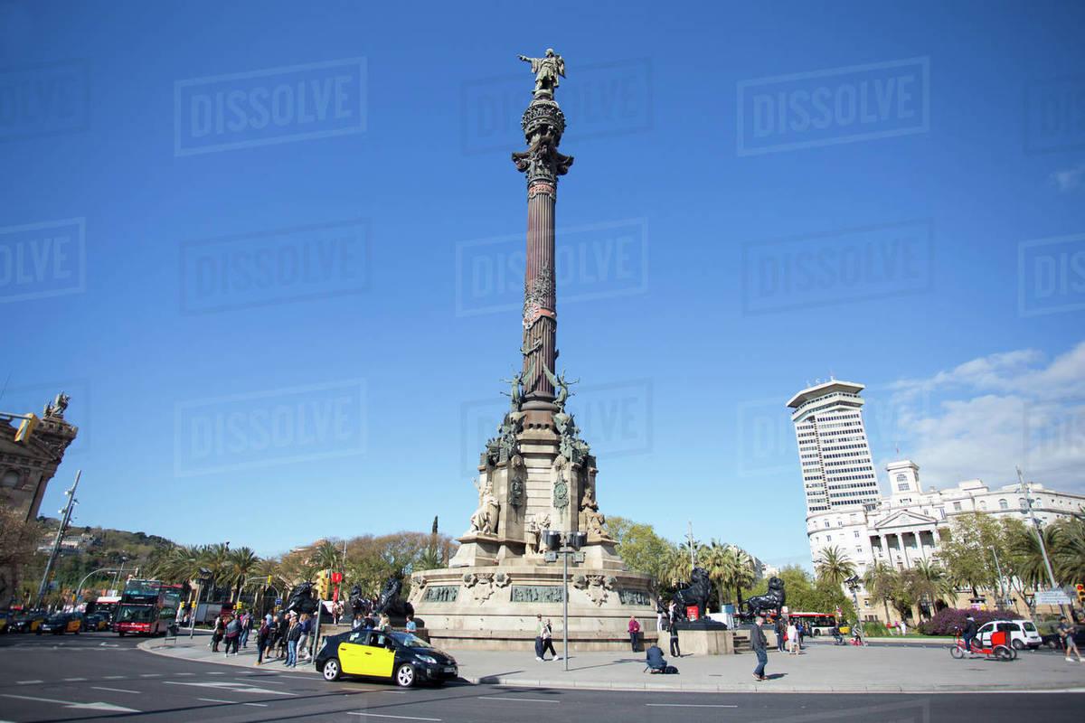 Colon statue in Barcelona Royalty-free stock photo
