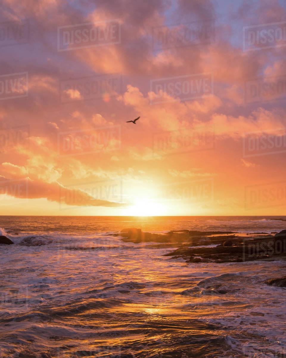 Laguna Beach Sunset Royalty-free stock photo