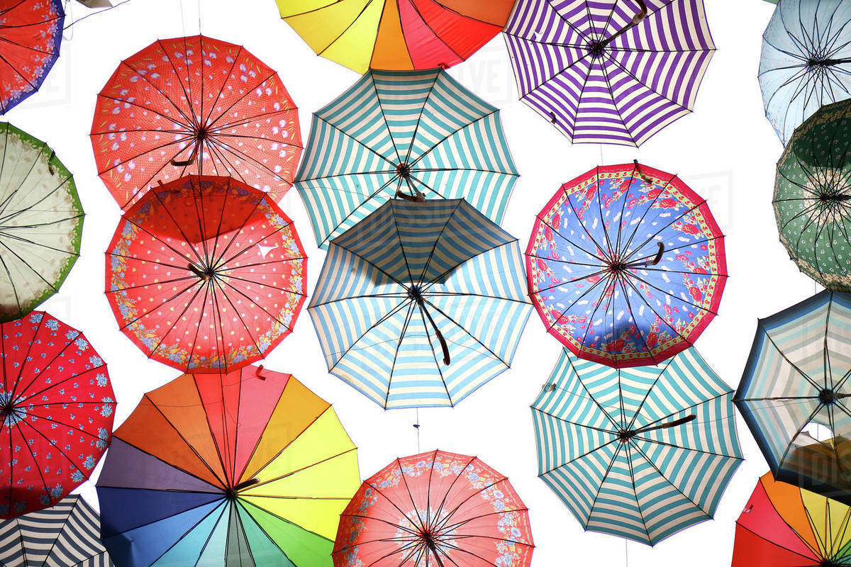 Umbrella in the Shiraz souk Royalty-free stock photo
