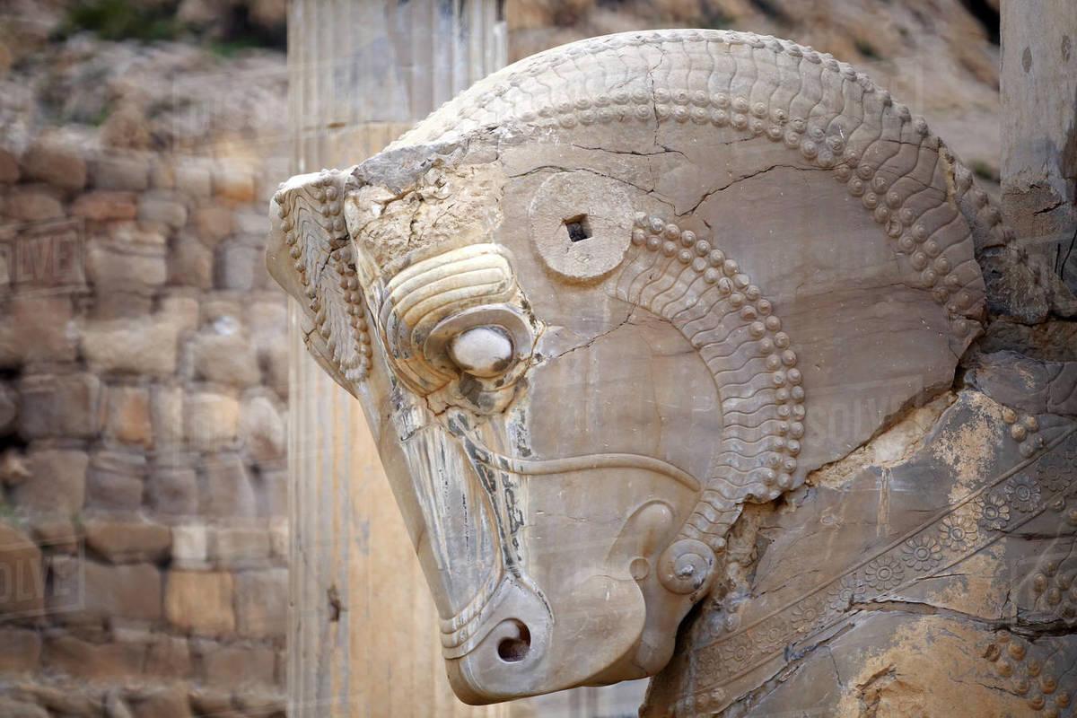 The site of Persepolis, Fars Province, Marvdasht, Iran Royalty-free stock photo