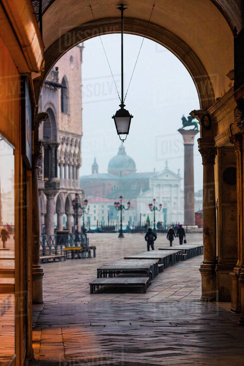 Cold morning in Venice Royalty-free stock photo